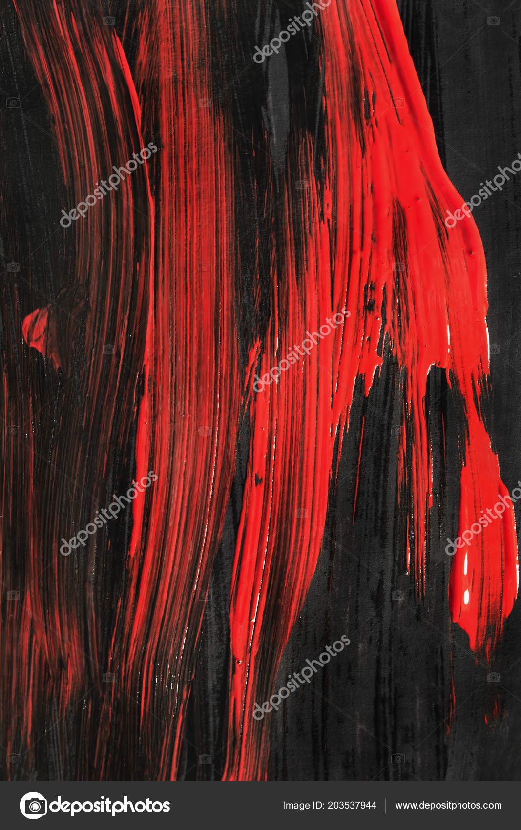 abstract black red acrylic