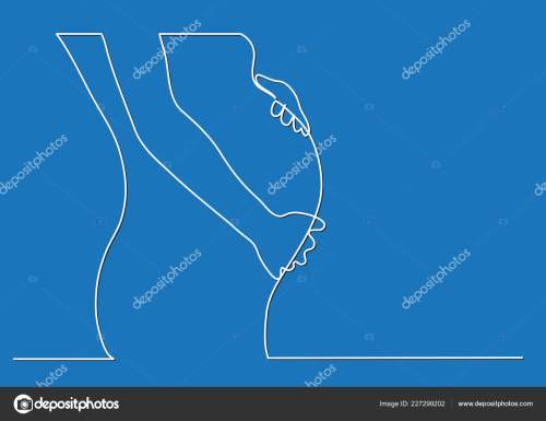 small resolution of pregnant woman body single line drawing stock vector
