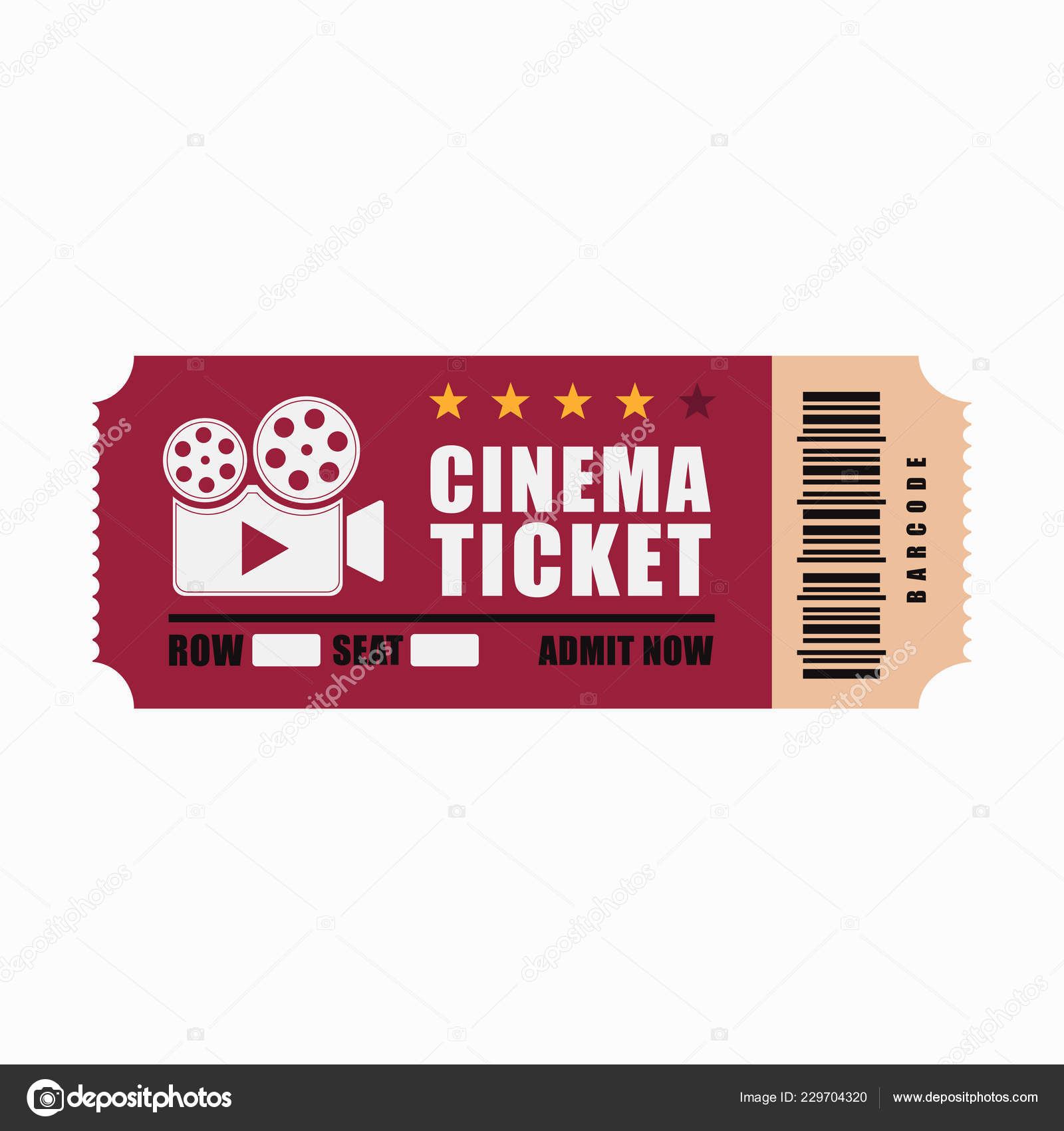 cinema ticket movie template