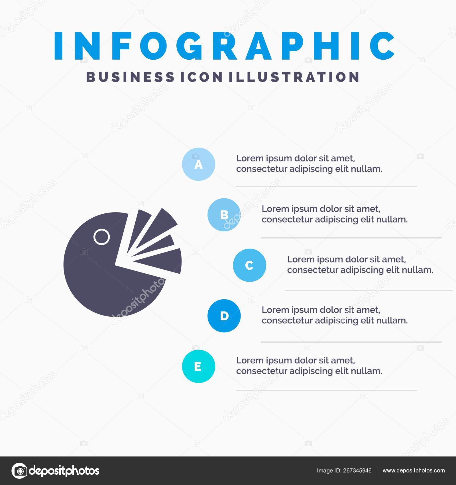 hight resolution of pie chart presentation diagram solid icon infographics 5 step vector de stock