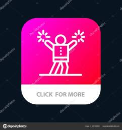 cheerleader cheerleading encourage fan mobile app button android and ios line version vector by  [ 1600 x 1700 Pixel ]