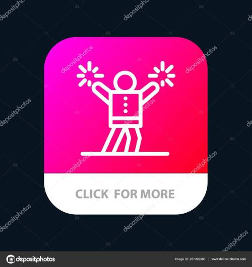 small resolution of cheerleader cheerleading encourage fan mobile app button android and ios line version vector by