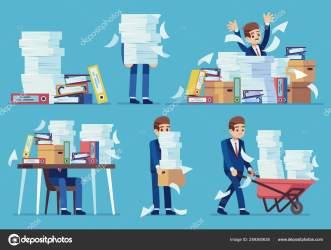 Student Messy Desk Cartoon
