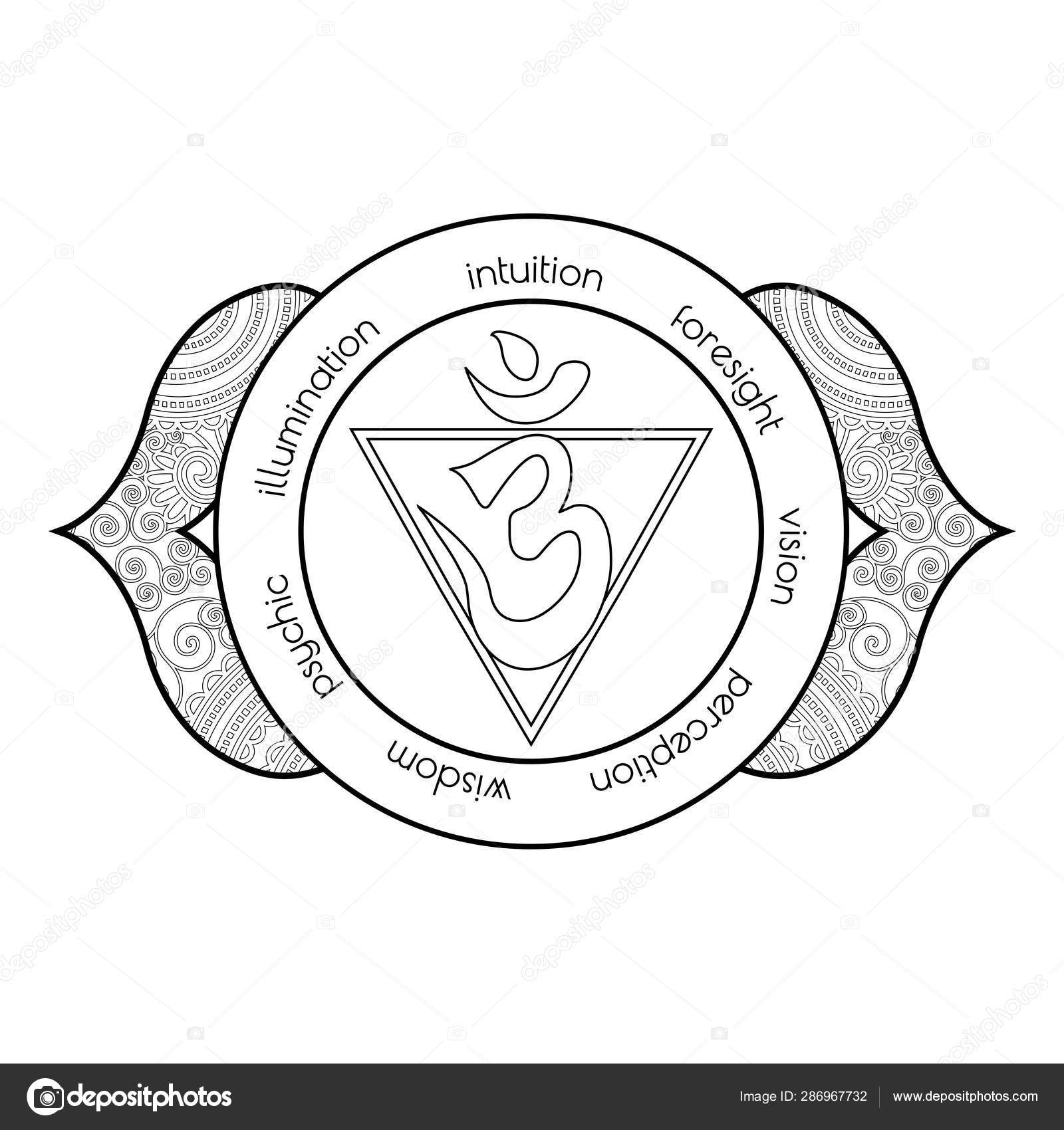 Third Eye Chakra Coloring Page Stock Photo C Smk0473 286967732