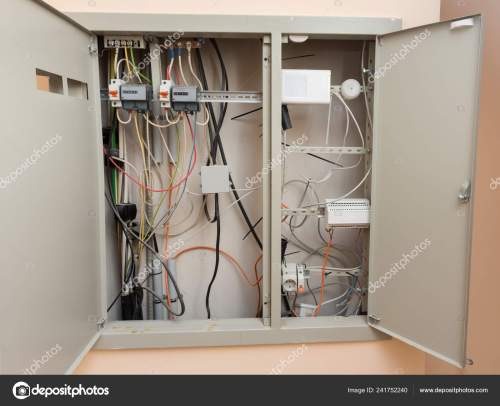 small resolution of device electric guard two counters fire alarm system stock image