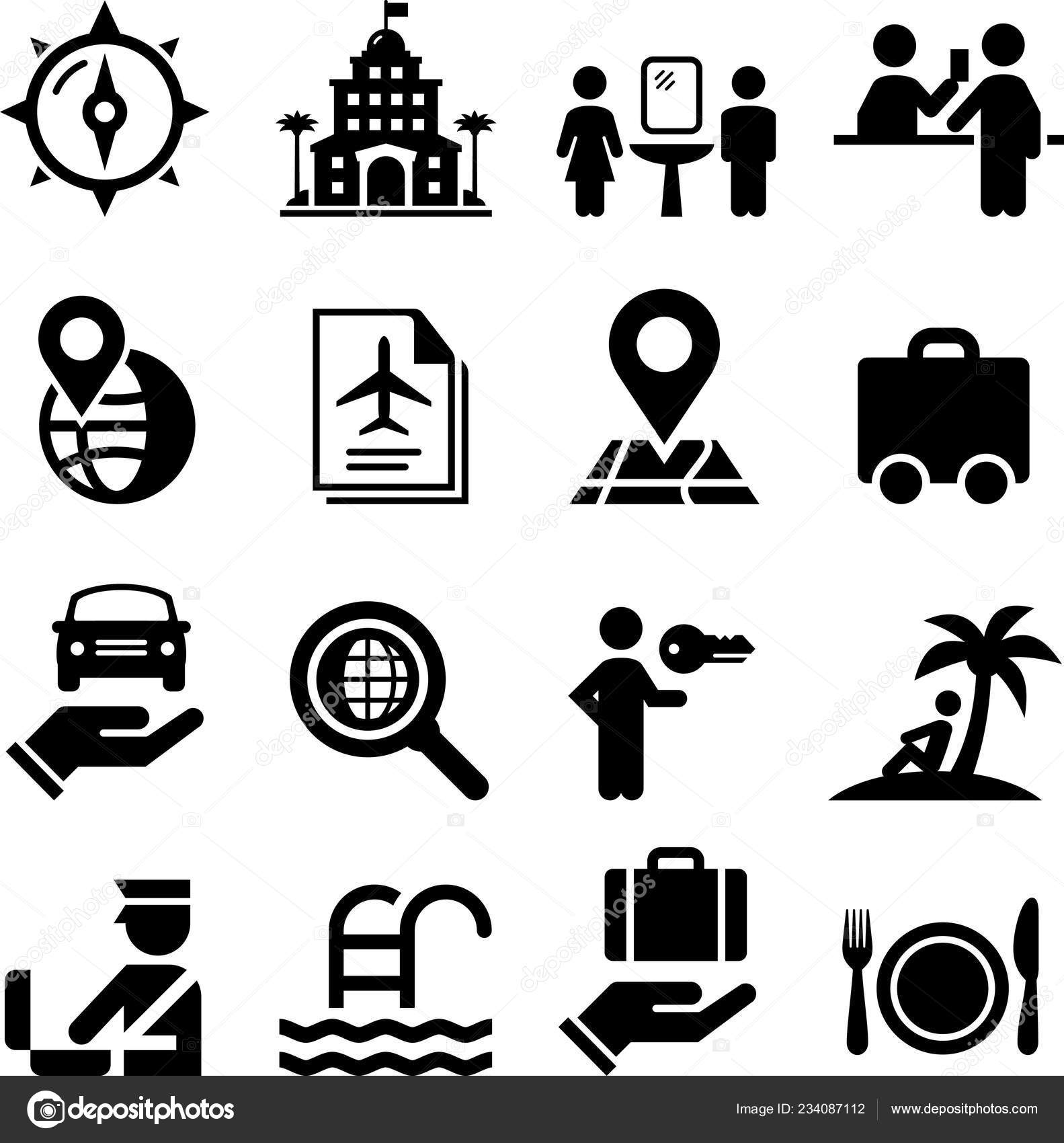 Travel Vacation Vector Icon Set Stock Vector C Popicon 234087112