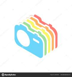 simple photo camera technology icon stack colorful isometric icons white stock vector [ 1600 x 1700 Pixel ]