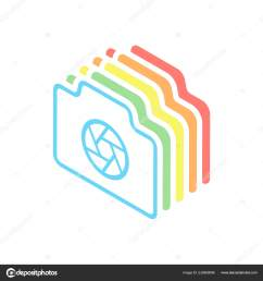photo camera shutter linear symbol thin outline simple icon stack stock vector [ 1600 x 1700 Pixel ]