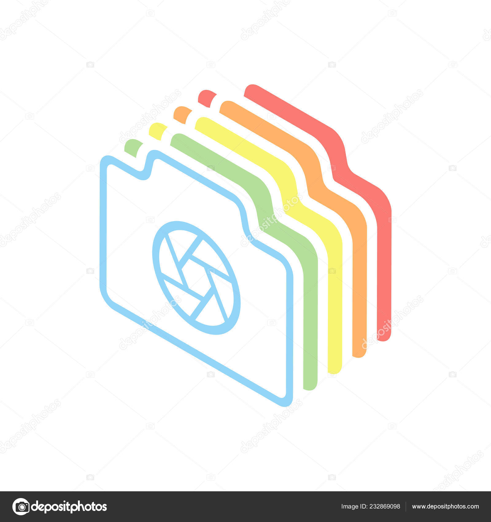 hight resolution of photo camera shutter linear symbol thin outline simple icon stack stock vector