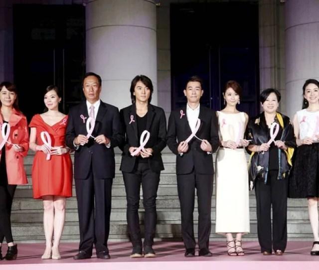 Third Right Second Right Taiwanese Actress Ruby Lin Hong Kong Stock Photo