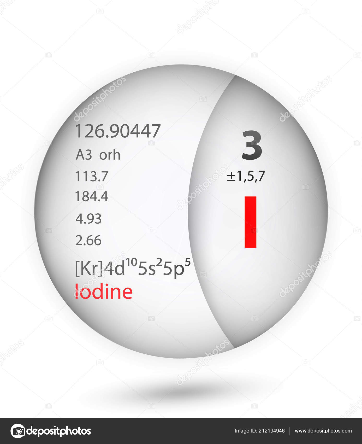 hight resolution of iodine icon badge style periodic table element iodine icon one stock vector
