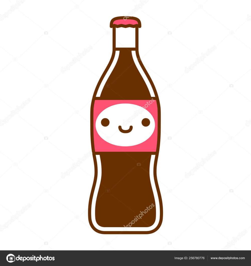 medium resolution of cartoon cute soda bottle spread isolated on white background stock illustration