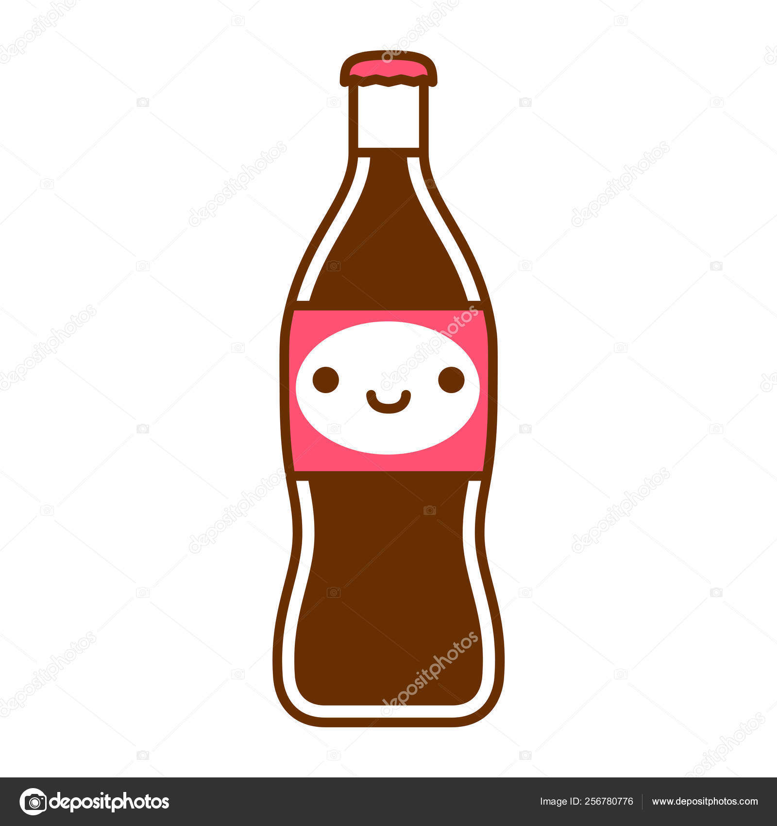 hight resolution of cartoon cute soda bottle spread isolated on white background stock illustration