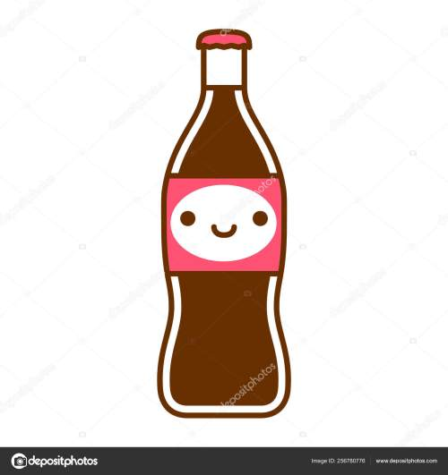 small resolution of cartoon cute soda bottle spread isolated on white background stock illustration