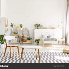 Bedroom Chair Table Set Covers For Cheap To Buy White Wooden Green Plants Spacious Sunlit Teenager And In A Interior With Scandinavian Decor Photo By Photographee Eu