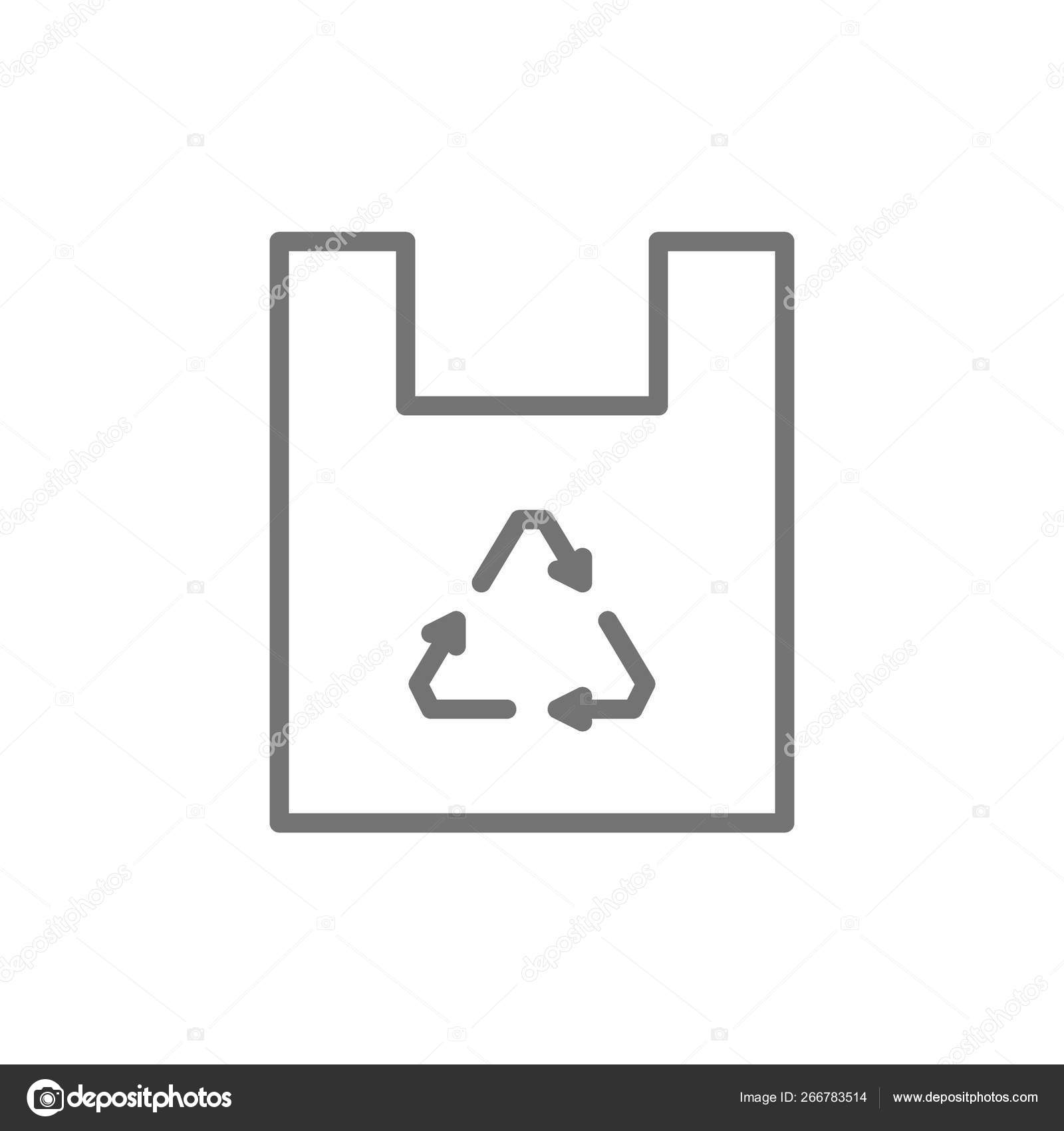 hight resolution of vector plastic bag waste recycling trash line icon symbol and sign illustration design isolated on white background vector by studicon