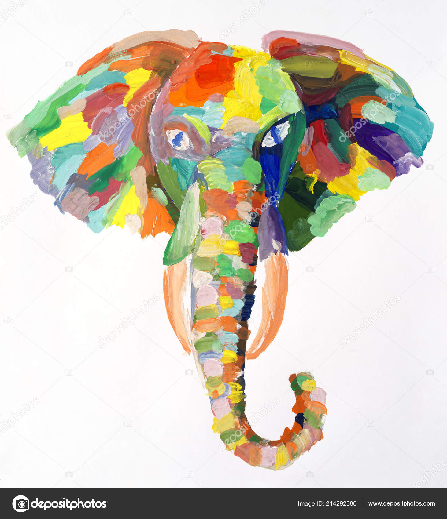 pictures watercolor elephant painting