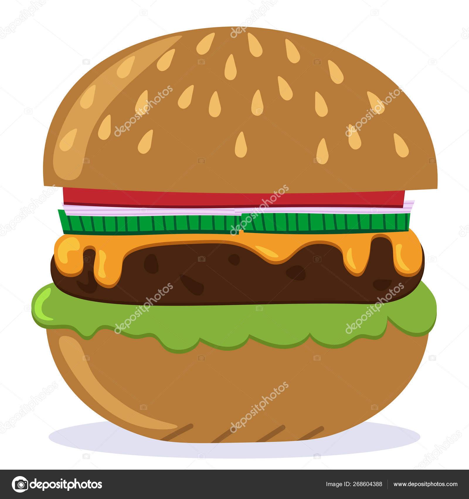 vector image hamburger cheeseburger