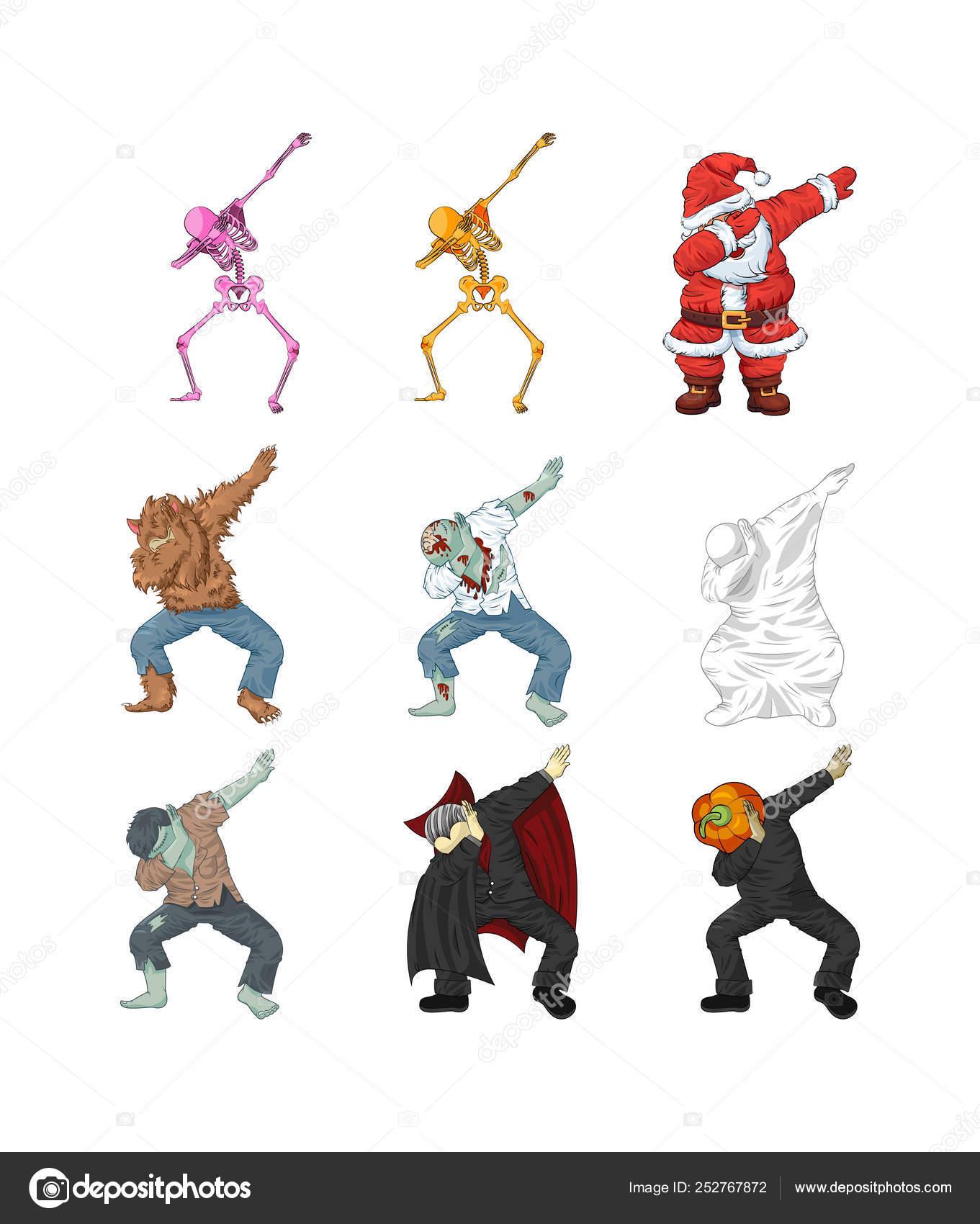monsters dancing dab step