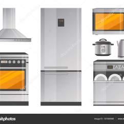 Kitchen Utensil Sets Rustic Island 电器与现代厨具套装 图库矢量图像 C Robuart 197488566 图库矢量图片
