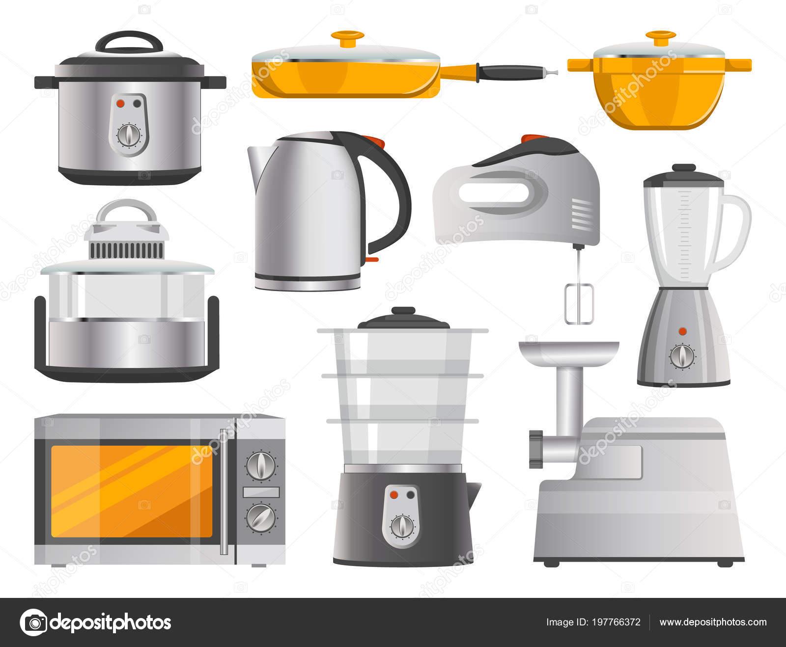 kitchen electrics commercial floor coverings 厨房电器及现代用品 图库矢量图像 c robuart 197766372 图库矢量图片