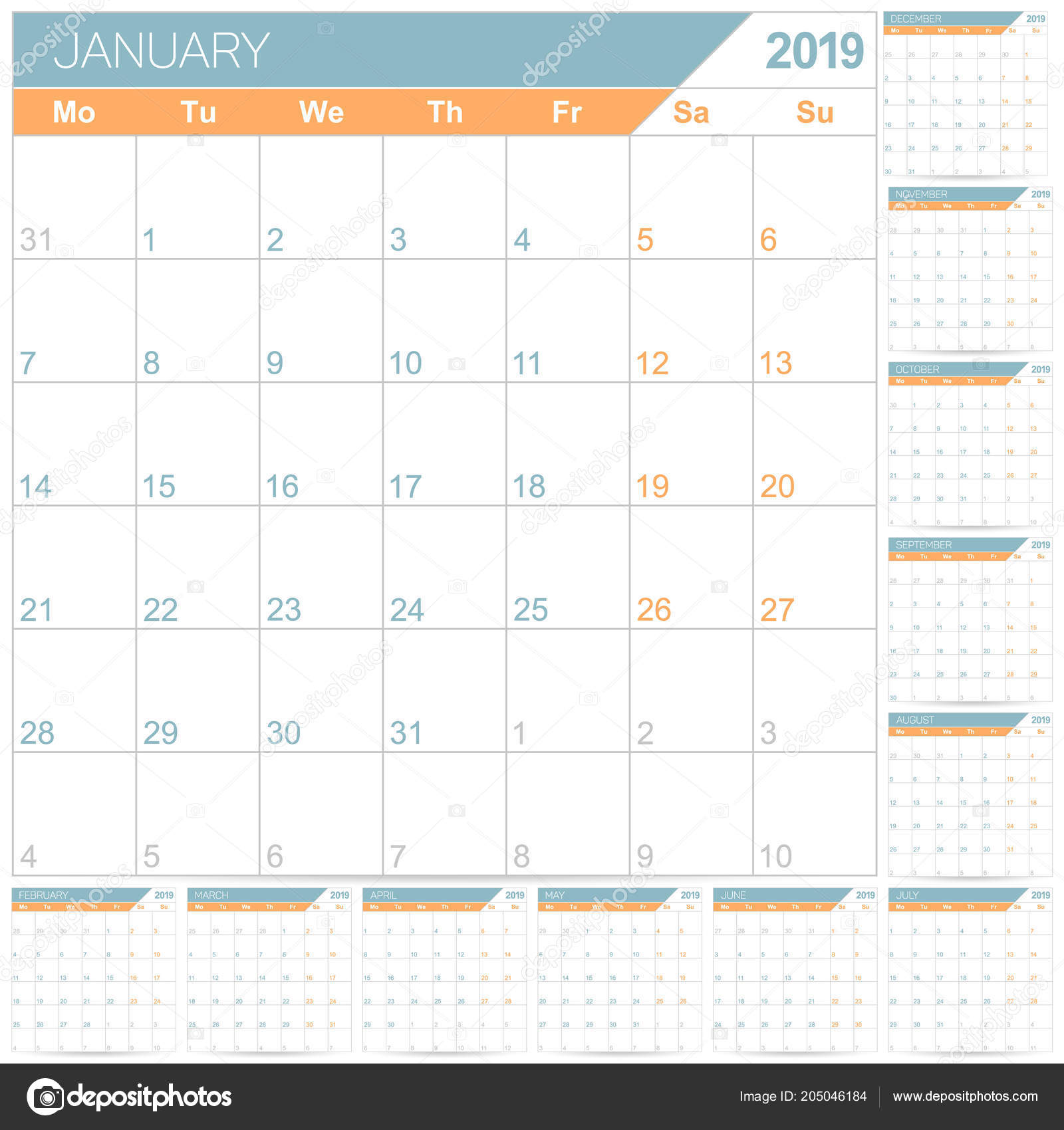 Blank Fillable Luxury Planner Yearly Picturesque Picturesboss