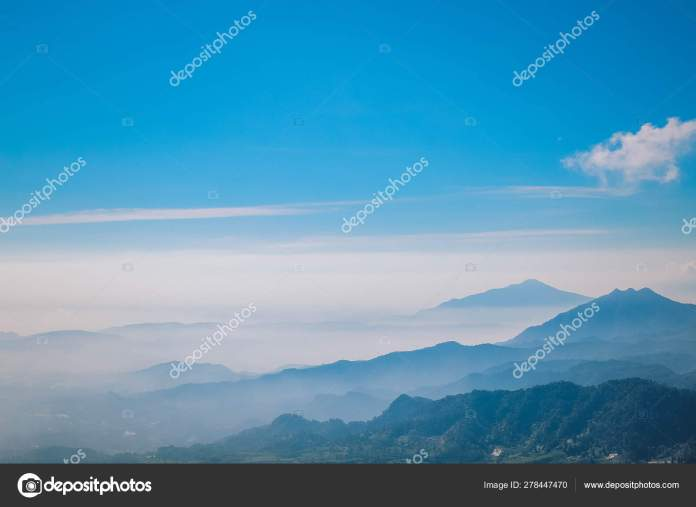 Views Mountains Fog Blue Sky Lembang Bandung West Java Indonesia Stock Photo Image By C Reezky11 278447470
