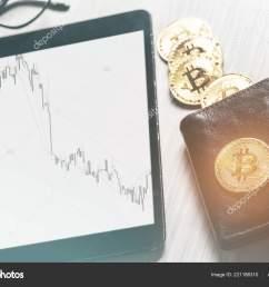 symbol virtual money bitcoins purse digital tablet financial diagram business stock photo [ 1600 x 1168 Pixel ]