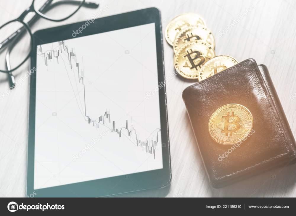 medium resolution of symbol virtual money bitcoins purse digital tablet financial diagram business stock photo