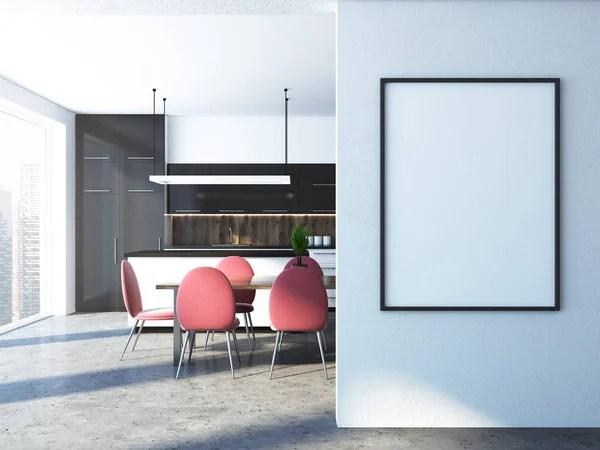 black kitchen tables virtual designer online 白色和黑色厨房的桌子 海报 图库照片 c denisismagilov 166447206 白色和黑色厨房内部与混凝土地板黑白台面与