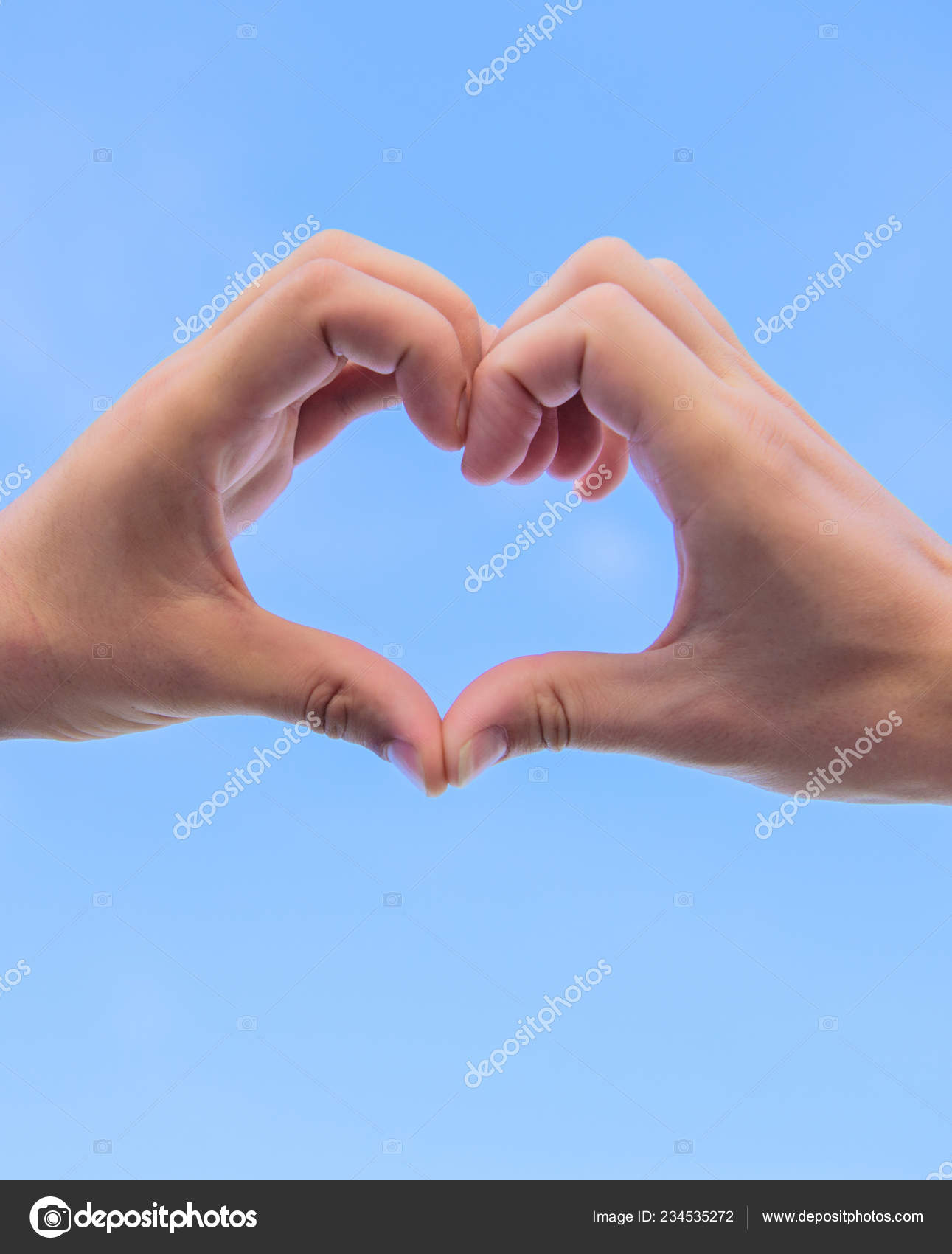 Put Picture In Heart Shape : picture, heart, shape, Hands, Together, Heart, Shape, Background., Symbol, Concept., Gesture, Forms, Using, Fingers., Romance, Stock