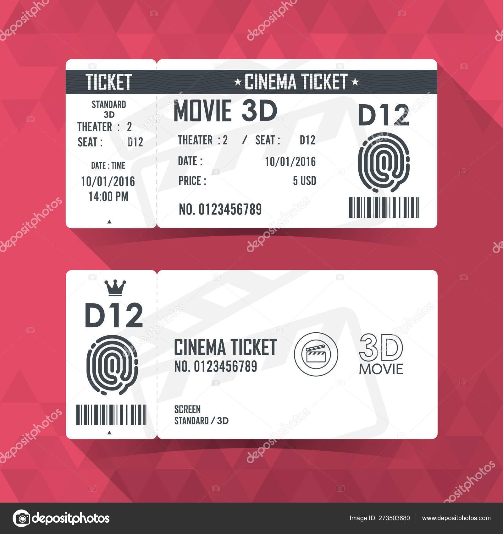 cinema ticket card modern