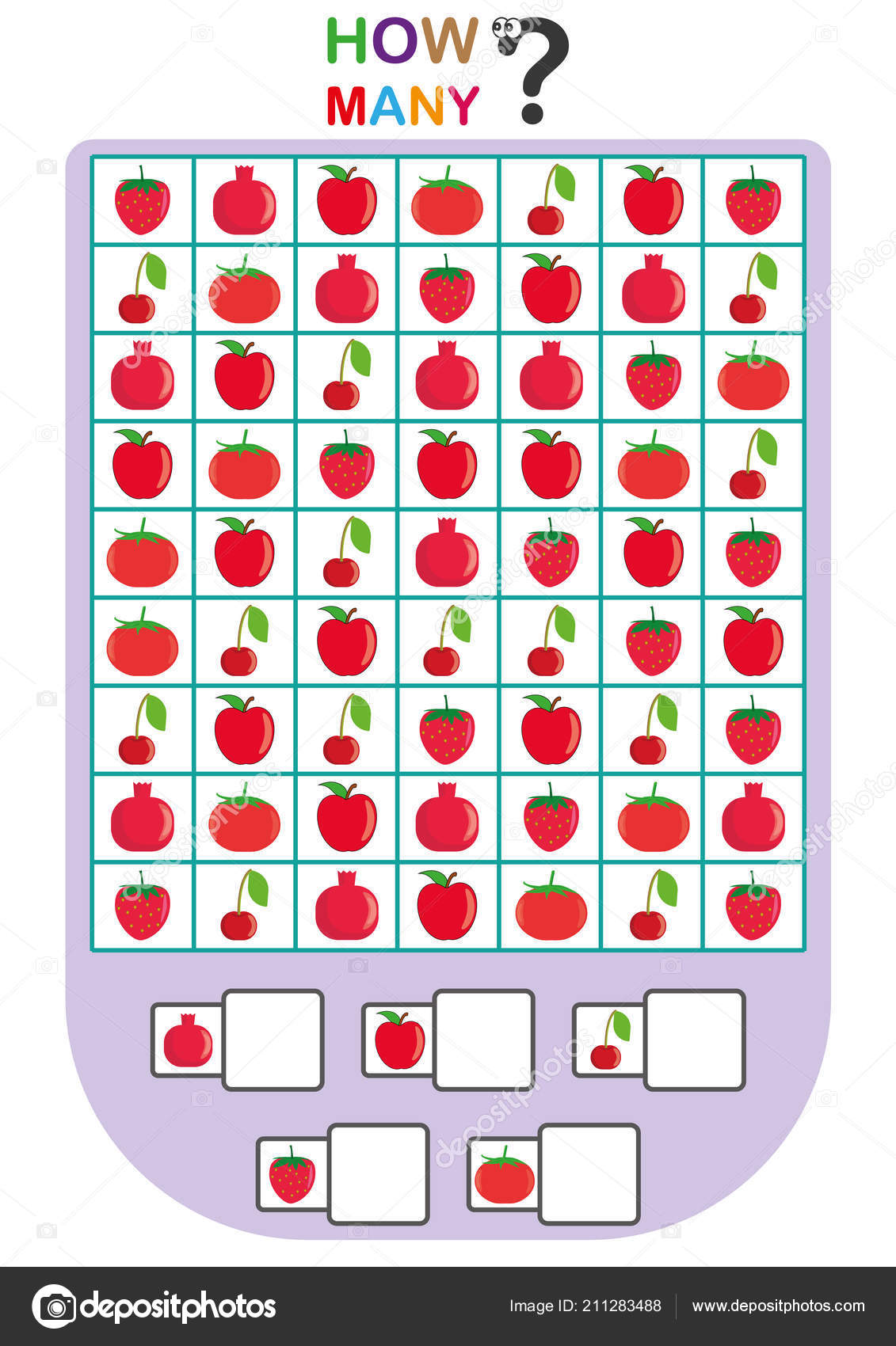 Worksheet For Kids Count The Number Of Objects Learn The