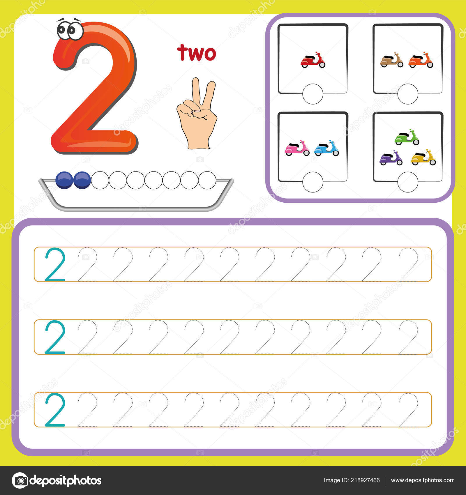 Preschool Worksheet Gallery Learning Number Tracing