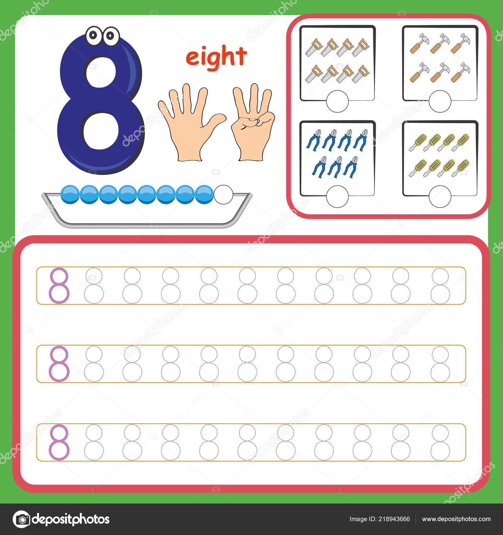 Anzahl Karten Zahlen Und Zahlen Schreiben Lernen Zahlen