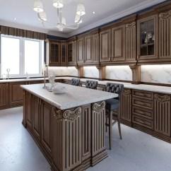 Kitchen Island With Bar Double Sink 明亮的现代厨房与设计酒吧 图库照片 C Kuprin33 83413876 岛上的厨房酒吧椅