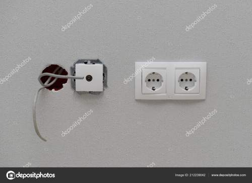 small resolution of electric power outlets connection protruding wires wall wallpaper stock photo