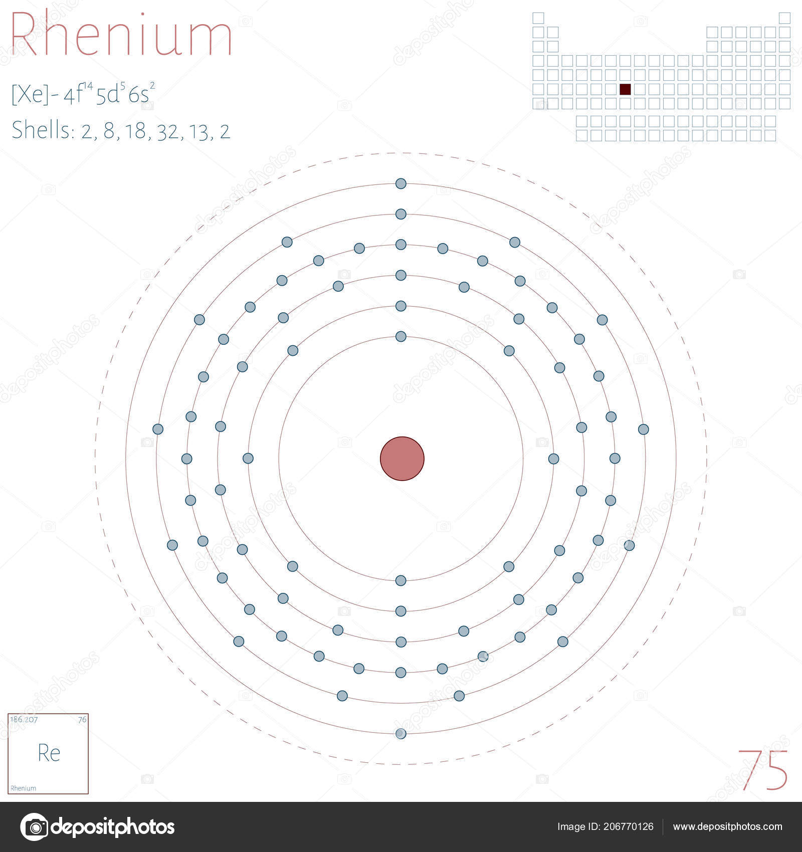 hight resolution of large colorful infographic element rhenium stock vector
