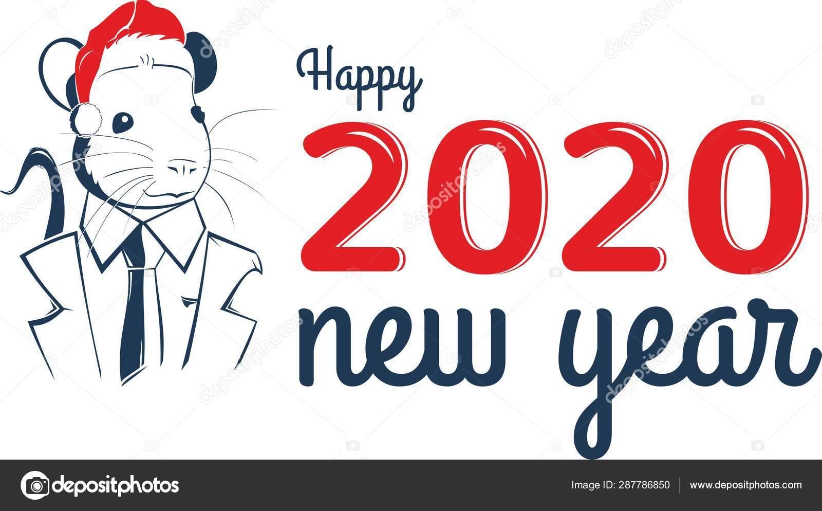 中國生肖標志鼠年。中國農歷新年2020年鼠年. — 圖庫矢量圖像© lavr123rf #287786850