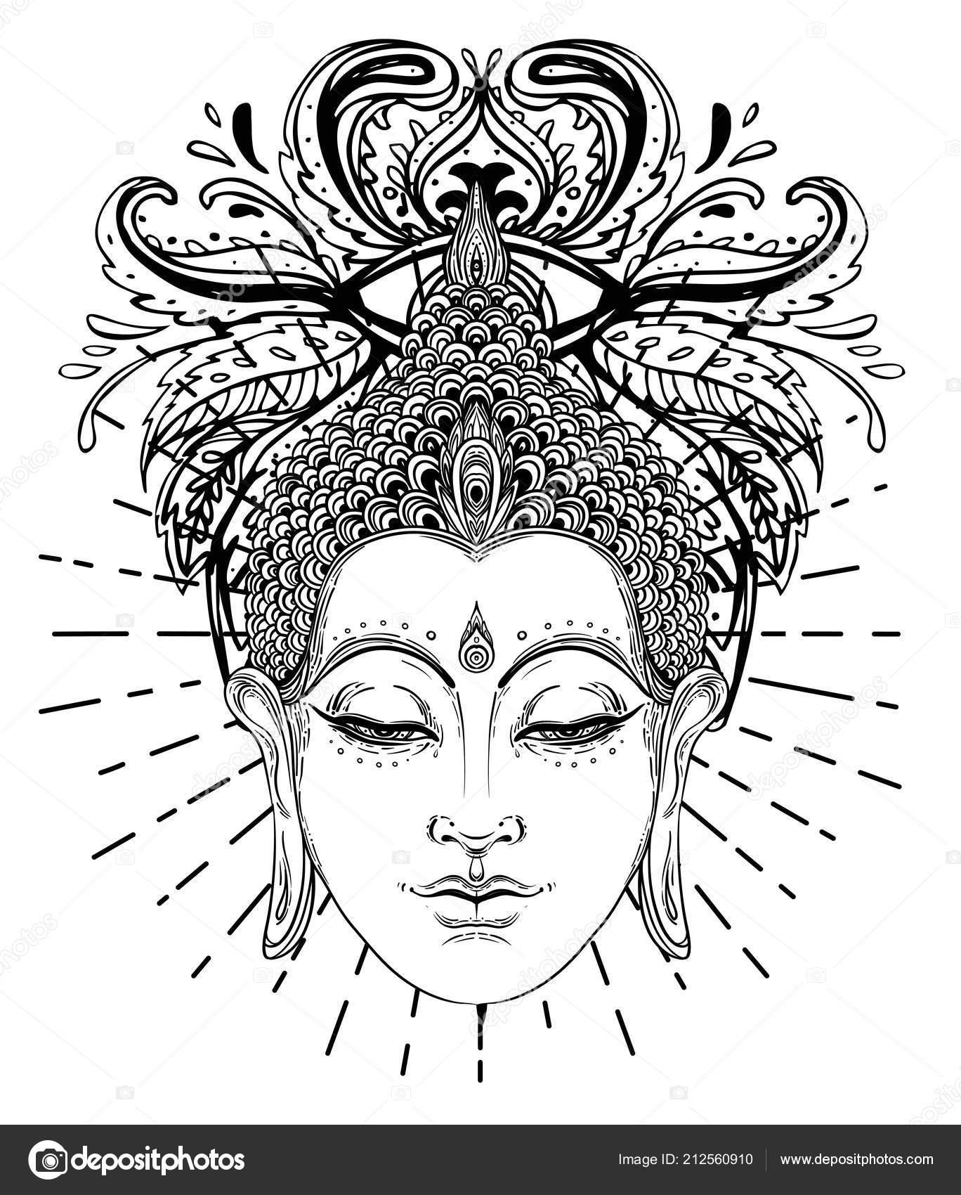 Buddha Malvorlage Kostenlos