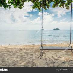 Hanging Tree Swing Chair Racer Gaming Wooden Beach Island Phuket Thailand Summer Stock Photo