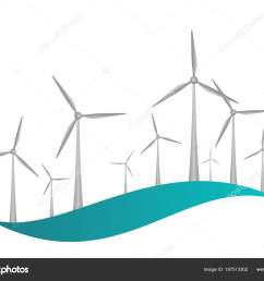 gray wind turbines engine propellers blue wave white background icon stock vector [ 1600 x 1226 Pixel ]