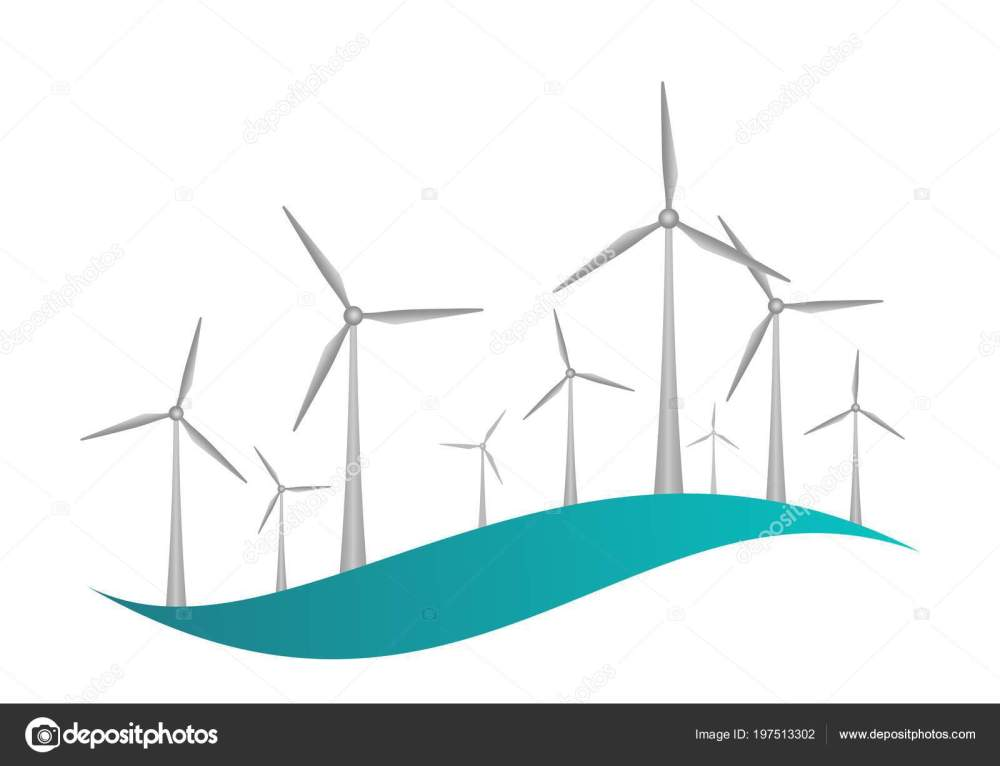 medium resolution of gray wind turbines engine propellers blue wave white background icon stock vector