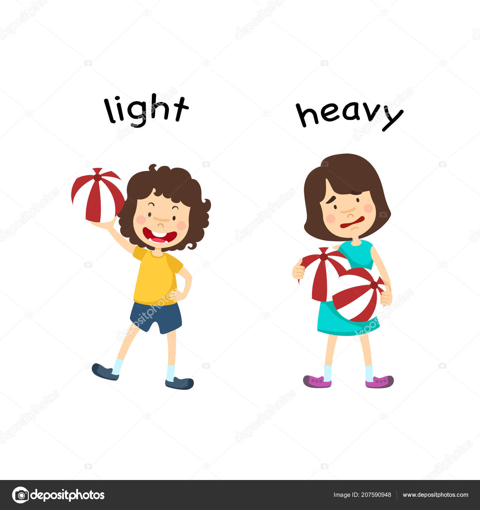 Light Heavy Vector Illustration