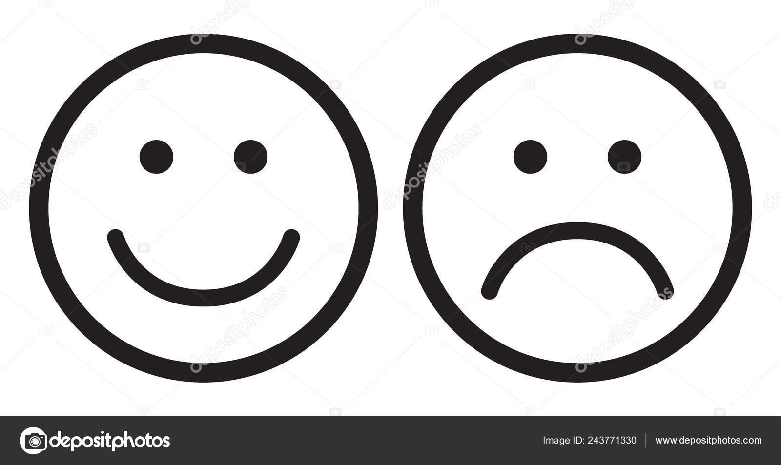 Happy And Sad Face Symbols