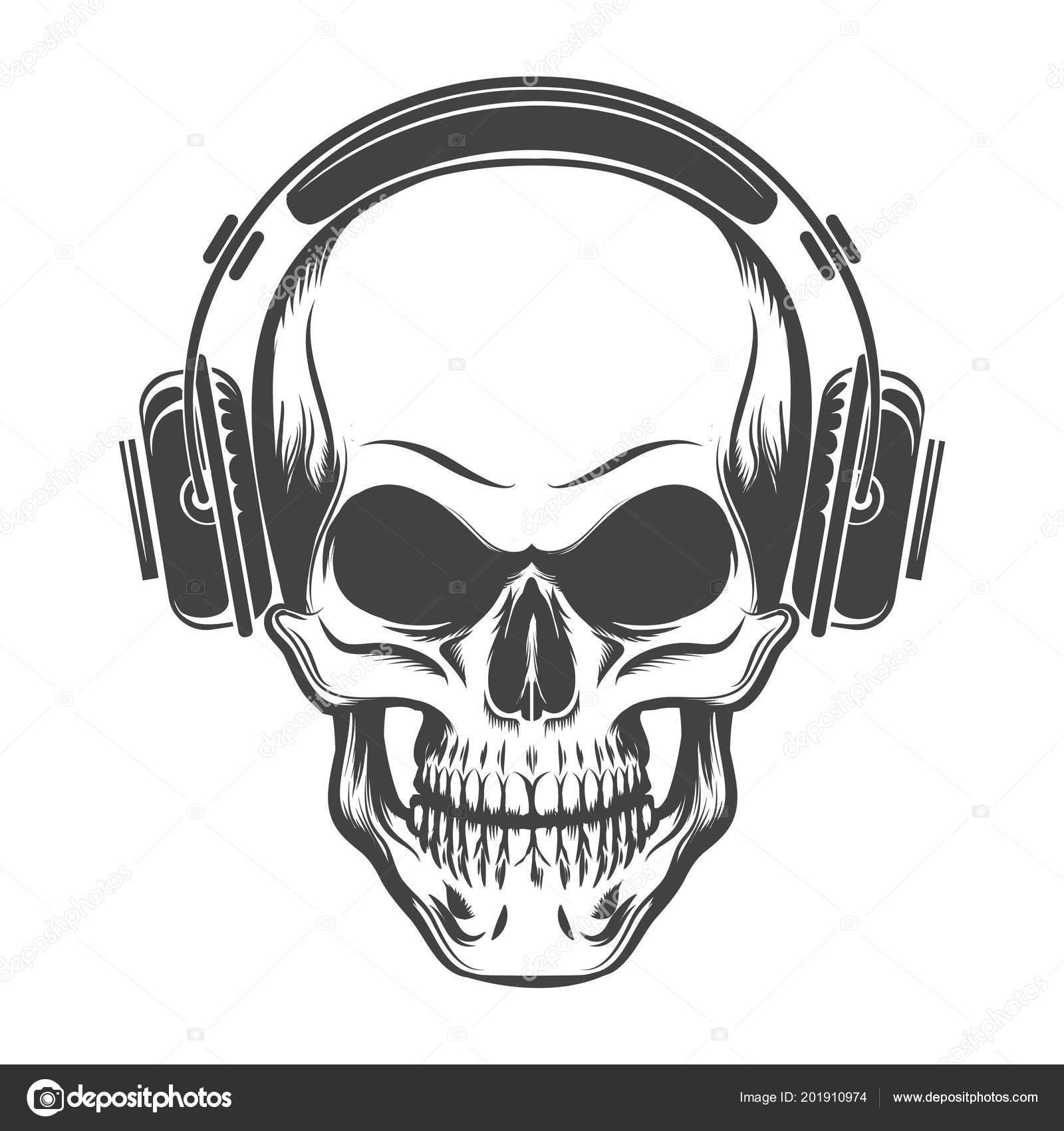 Vector Headphones Draw