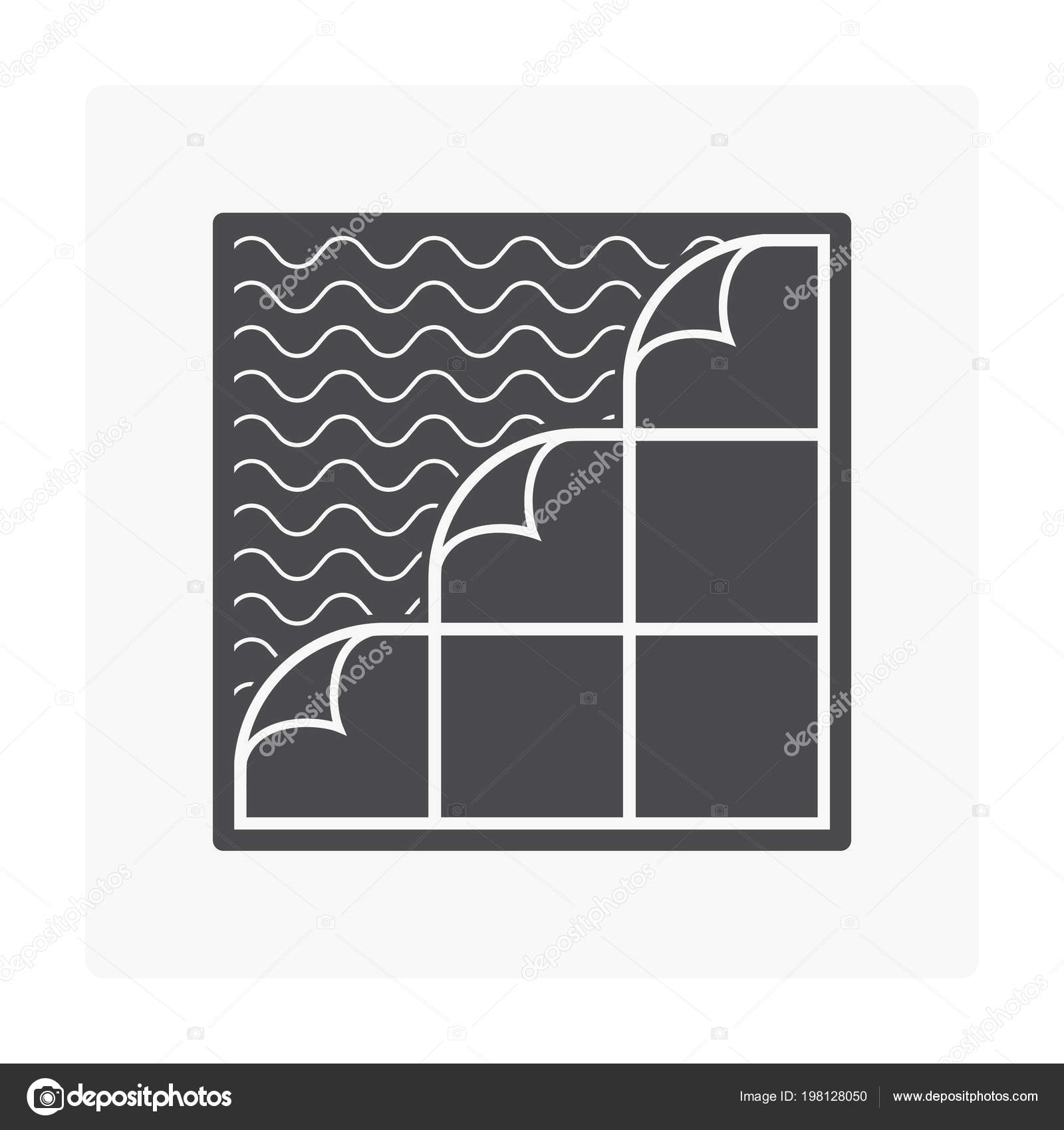 hight resolution of tile floor installation material icon stock vector