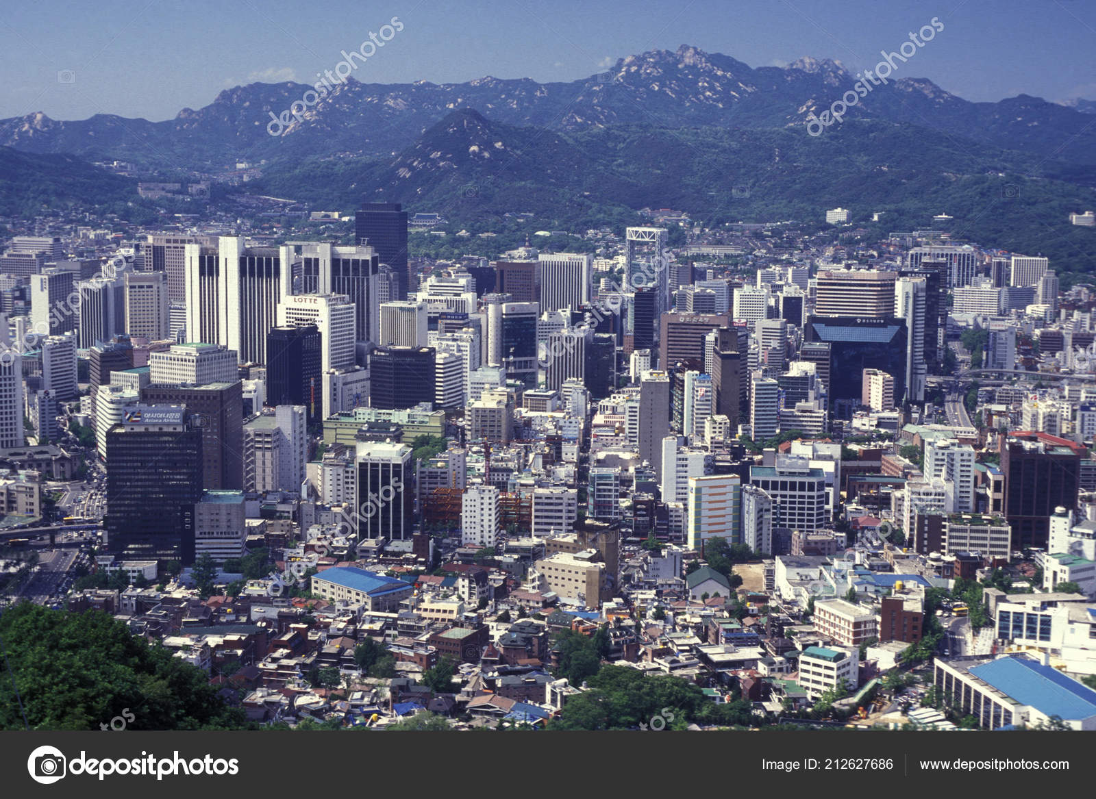 View Seoul Tower City Centre Seoul South Korea Eastaasia