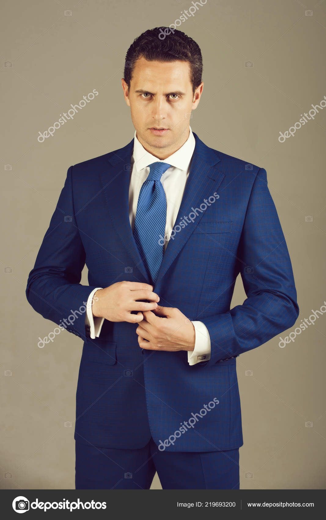 handsome man confident businessman