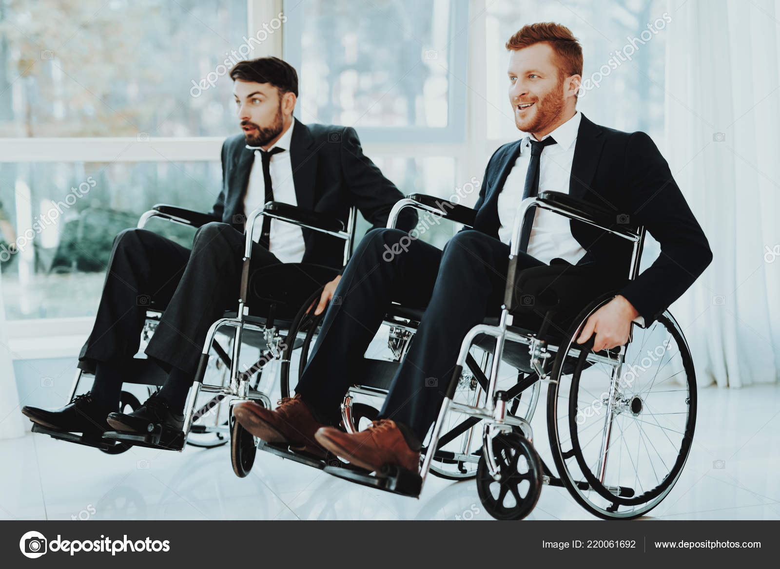 wheelchair man exercise ball desk chair reviews person disabled room panoramic view white interior people stock photo